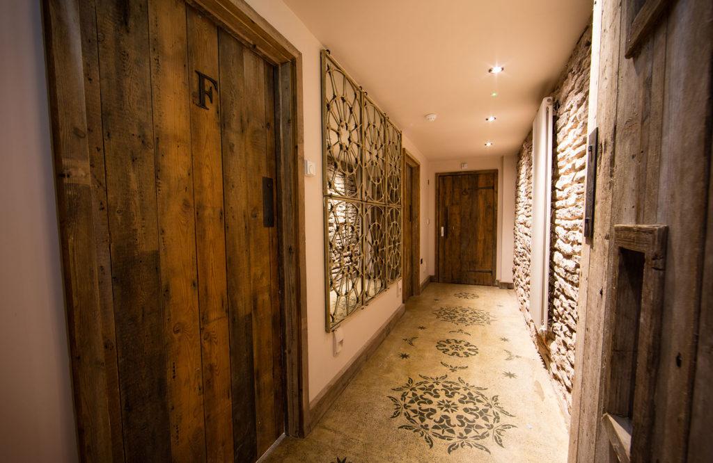 Dewsall Court - Wainhouse Barn renovation, passageway