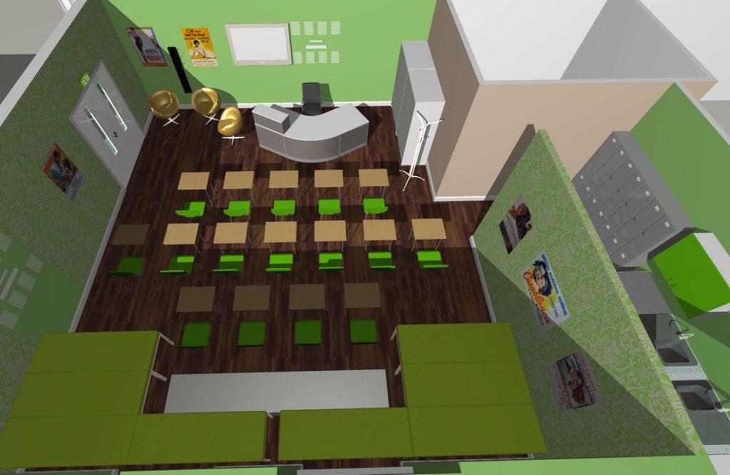 Arrow Vale, Teaching Suite 3D design