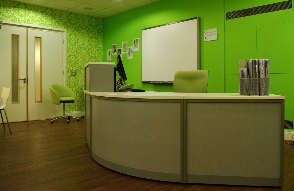 Arrow Vale, reception desk
