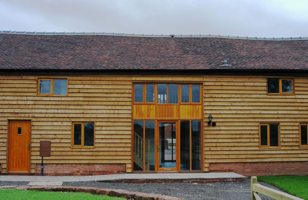 Horton barn conversion, entrance