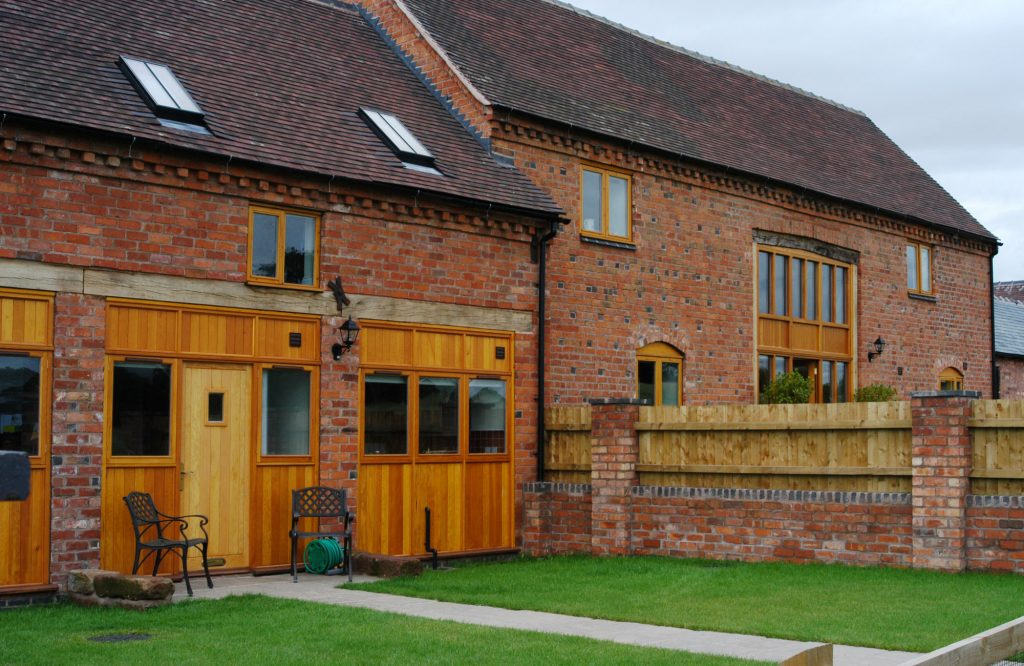 Horton barn conversion, garden