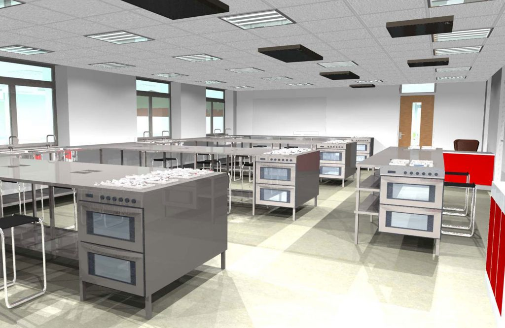 King Charles I School, food tech design