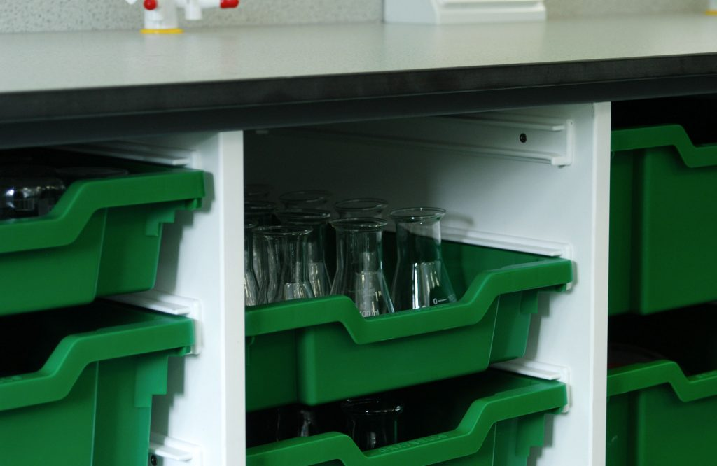 King Charles I School, science department storage