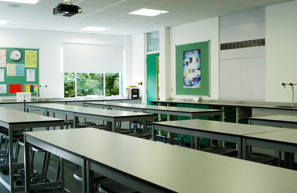 King Charles I School, science room
